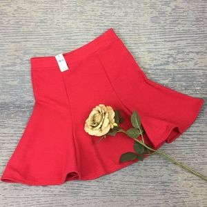 Gap Petite fit flare hot pink skirt